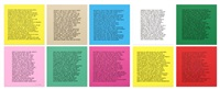 inflammatory essays (set of 10) by jenny holzer