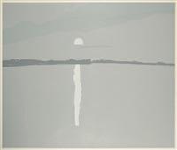sunset, lake wesserumett ii by alex katz