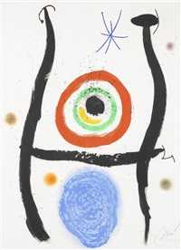 le bleu de la cible by joan miró