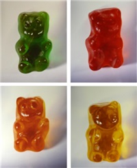 gummy bears (complete set of 4 works) by vik muniz