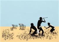 trolleys by banksy