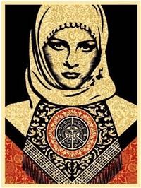 arab woman by shepard fairey