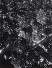 new york at night by berenice abbott