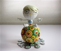 mister wink, cosmos ball by takashi murakami