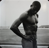 carl lewis, us olympic track, pearland high school, pearland, texas by annie leibovitz