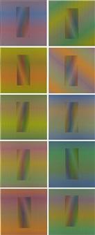 inducción cromática a doble frecuencia (complete set of 10 works) by carlos cruz-diez