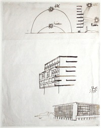sketches illustrating the principle of the brise-soleil by le corbusier