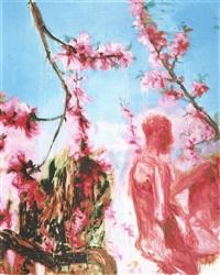 peach blossom (two figures) by zhou chunya