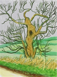 the arrival of spring in woodgate, east yorkshire by david hockney