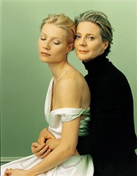 gwyneth paltrow and blythe danner by annie leibovitz