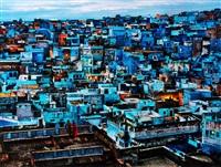 blue city, rajasthan, jodhpur, india by steve mccurry