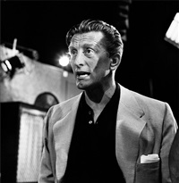kirk douglas on set of the jack benny show by frank worth