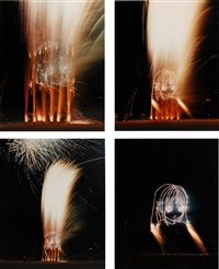 a smile without a cat (celebration of annlee's vanishing) (4 works) by philippe parreno and pierre huyghe