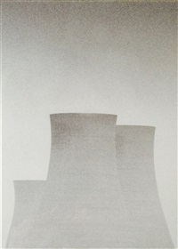 cooling towers, swansea, wales by michael kenna