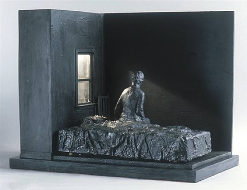 a woman sitting on bed by george segal