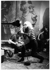 blondie, cbgb's 1977 by godlis
