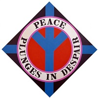 peace plunges in despair by robert indiana