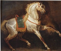 study of a horse by emile jean horace vernet