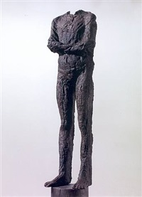 small figure on column by magdalena abakanowicz