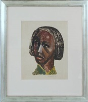untitled (head of woman) by elizabeth catlett