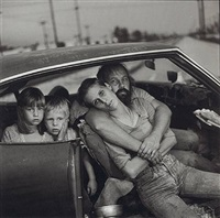 the damm family in their car, los angeles, ca, 1987 by mary ellen mark