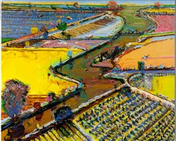 brown river by wayne thiebaud
