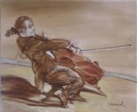 violoncelliste by claude weisbuch