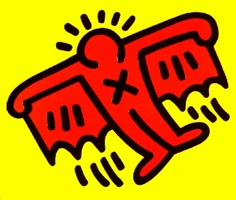 icon (bat) ed. of 250 by keith haring
