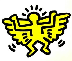icon (angel) ed. of 250 by keith haring