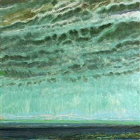 green sky in autumn by jane wilson