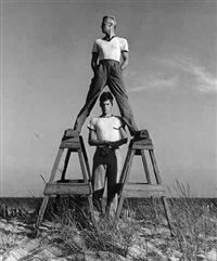 george platt-lynes & jonathan tichenor, fire island (pajama) by jared french