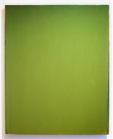 green painting by joseph marioni
