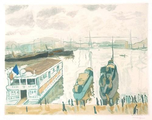 port de marseille by albert marquet