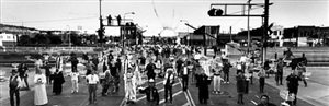 citizens protesting anti-semitic acts, billings, mt by frédéric brenner
