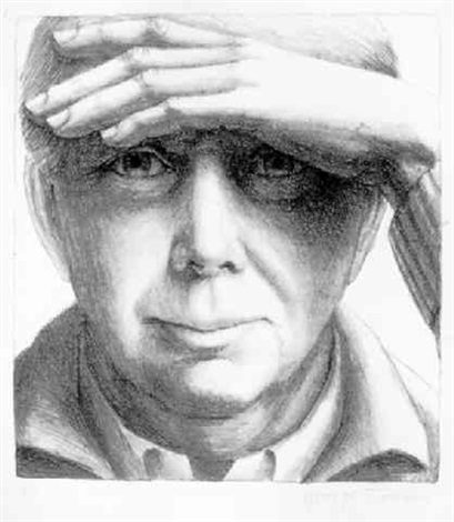 self portrait i, ed.75 by george tooker