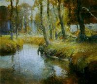 autumn stream by george ames aldrich