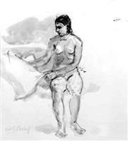 nude sitting by isabel bishop