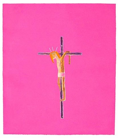 pink crucifixion by craigie aitchison