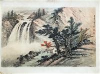 chinese landscape painting by huang jun1 bi mounted by huang junbi