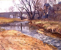 the brook, center valley by walter emerson baum