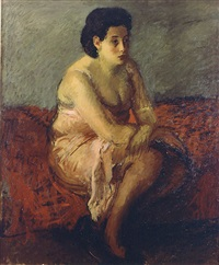 seated woman by raphael soyer