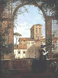 a view from the terrace at palazzo doria pamphili by françois marius granet