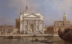 a view of the church of the redentore, venice by canaletto