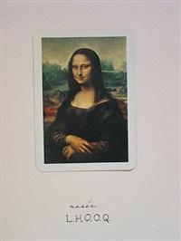 l.h.o.o.q. (rasee), january 13 by marcel duchamp
