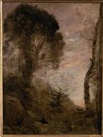 la petite chevrière (ou le repos de la chevrière) by jean-baptiste-camille corot
