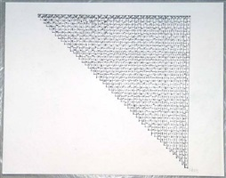 working drawing for cinderblock structure by sol lewitt