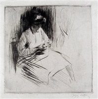 la couseuse (the seamstress) by jacques villon