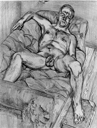 man posing by lucian freud