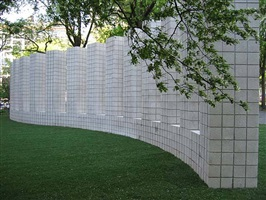 curved wall with towers by sol lewitt
