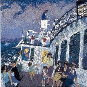 bateau sur le lac léman by pierre christin